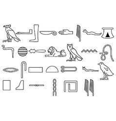 Hieroglyphics vector image