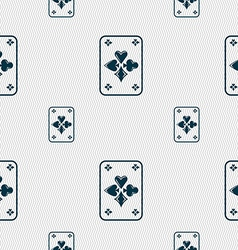 Game cards icon sign seamless pattern with vector