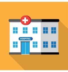 Hospital building or clinic vector