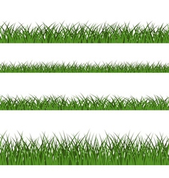 Green grass seamless pattern line design vector