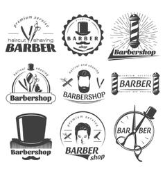 Barbershops graphic emblems vector