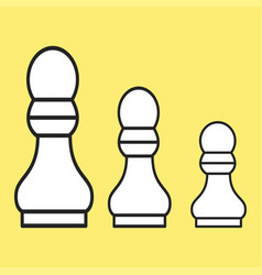 Chess figure a pawn on a yellow background vector