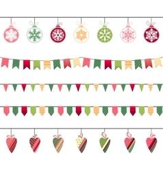 Christmas garlands endless horizontal texture vector image vector image