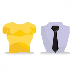 clothes icons vector image vector image