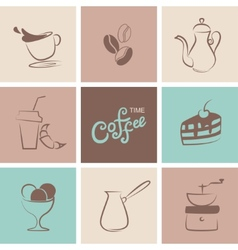 Coffee symbol collection vector