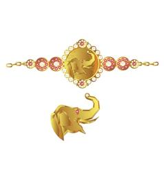 Elephant bracelet vector