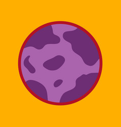 Flat icon on background halloween full moon vector