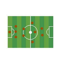 Football field 3-5-2 vector image