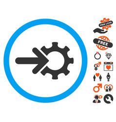gear integration icon with lovely bonus vector image