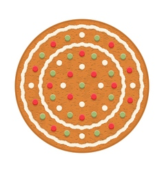 Gingerbread Circle vector image