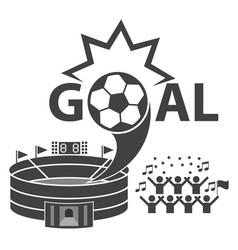 Goal soccer football fan club vector