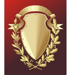 gold shield vector image vector image
