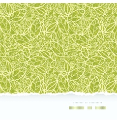 Green lace leaves horizontal seamless pattern vector image vector image