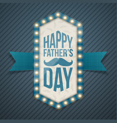happy fathers day greeting banner with mustache vector image vector image