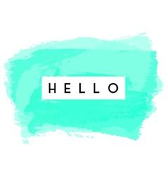 Hello greeting card design vector