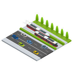isometric icon city transport or vector image vector image