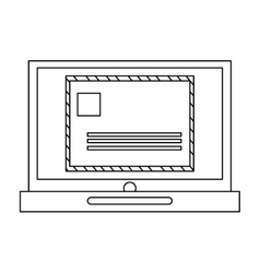 laptop with envelope vector image vector image