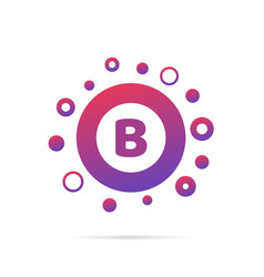 letter b with group of dots icon sign vector image vector image