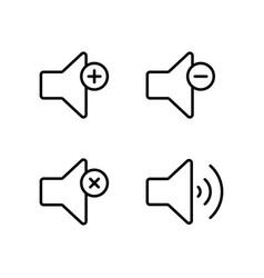 line speaker volume icon on white background vector image