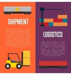 Logistics and shipment banner set vector