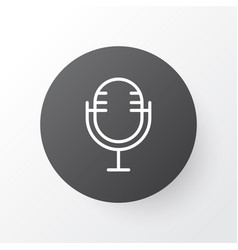 microphone icon symbol premium quality isolated vector image