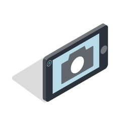 Mobile camera icon isometric 3d style vector