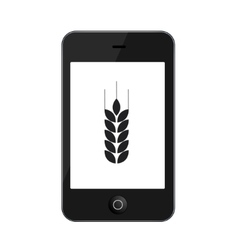 modern smartphone isolated on white vector image