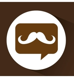 Mustache hipster vintage icon vector