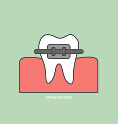 orthodontics teeth or dental braces vector image