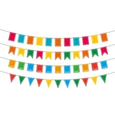 Pennant bunting collection vector image vector image