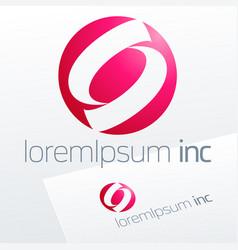 pink logo for media fashion cosmetics vector image vector image
