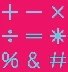 Pink mathematical vector