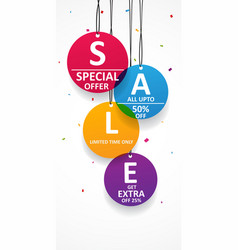sale tag isolated on white vector image vector image