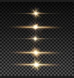 Set of lighting sparks on transparent background vector