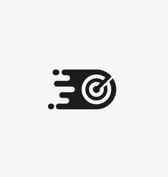 target logo design arrow goal aim logotype vector image