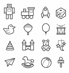 Toys icon collection vector image