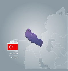 Turkey information map vector
