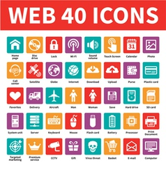 Web 40 icons vector