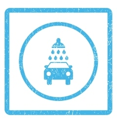 Car wash icon rubber stamp vector