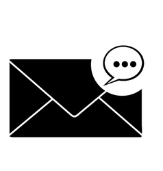 Message envelope icon image vector