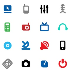 Buttons for media devices vector image