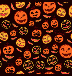 Halloween holiday seamless background vector