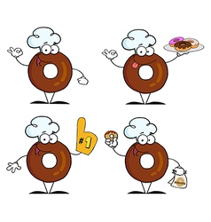 Donuts Cartoon Character-Collection vector image