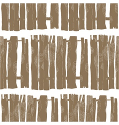 Seamless pattern of wooden fences vector