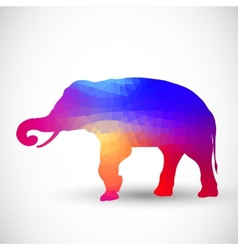 Geometric silhouettes animals elephant vector