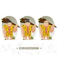 Caveman vector image