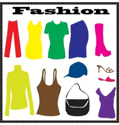 abstract clothes vector image