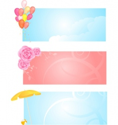 banners with three different design vector image