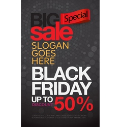 Black friday sale inscription design template vector