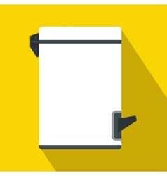 Trash bin with tilting lid icon flat style vector